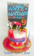 Hip hop graffiti cake