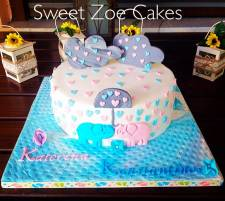 Baptism Cake for twins