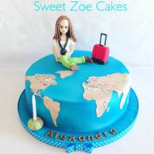 Travel girl Cake
