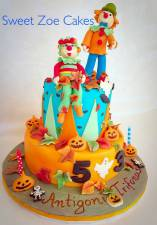 Halloween and Clown Cake